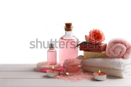 Stock fotó: Fürdő · egészségügy · izolált · fehér · virág · egészség