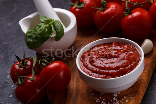 Traditional Italian tomato sauce Stock photo © Lana_M