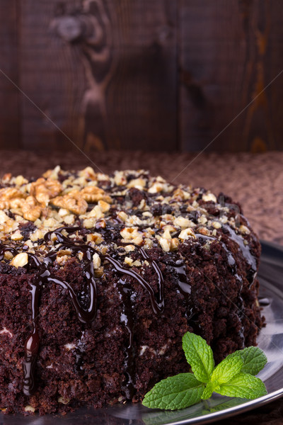 продовольствие торт пластина вилка кремом Сток-фото © Lana_M