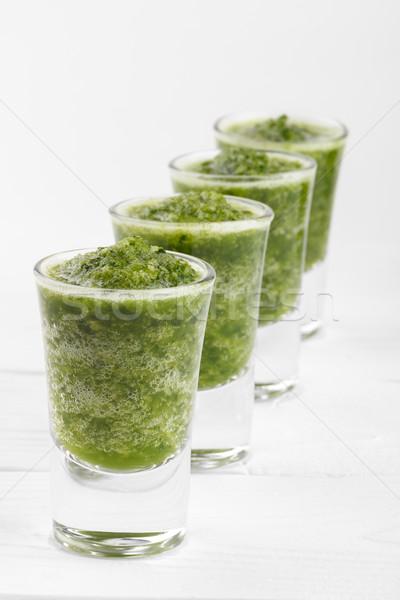 グリーンスムージー 健康 ほうれん草 木材 ガラス 健康 ストックフォト © Lana_M