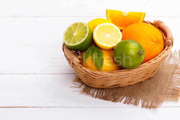 Basket of Citrus Fruit Stock photo © Lana_M
