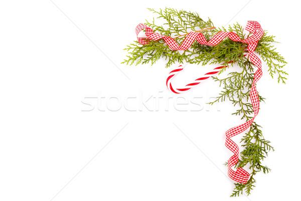 Decoratief vakantie frame jaar foto's blad Stockfoto © Lana_M