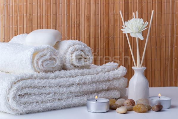 Spa оздоровительный свечей аромат мыло Сток-фото © Lana_M