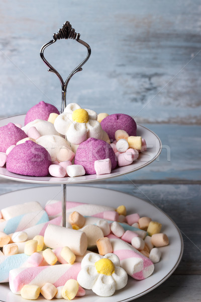 Colorful marshmallows on a plate Stock photo © Lana_M