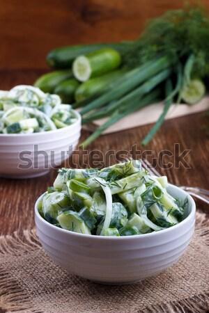 Fresh cucumber and dill salad Stock photo © Lana_M
