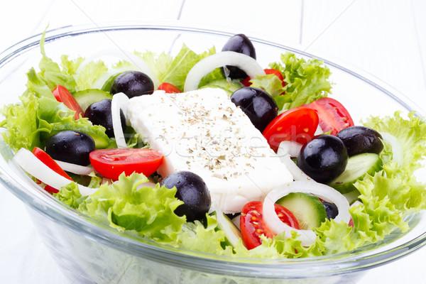 Greek salad Stock photo © Lana_M