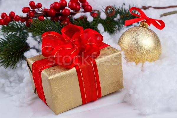 Рождества шкатулке снега украшения избирательный подход Сток-фото © Lana_M