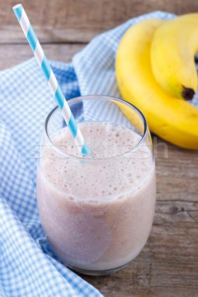 Banana milk shake Stock photo © Lana_M