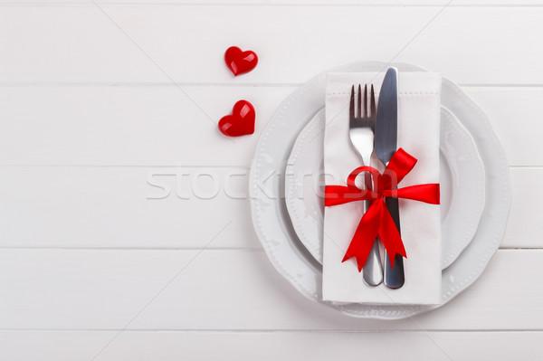 романтические таблице белый день карт Сток-фото © Lana_M