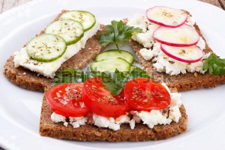Snack gezonde tweede ontbijt achtergrond eten Stockfoto © Lana_M