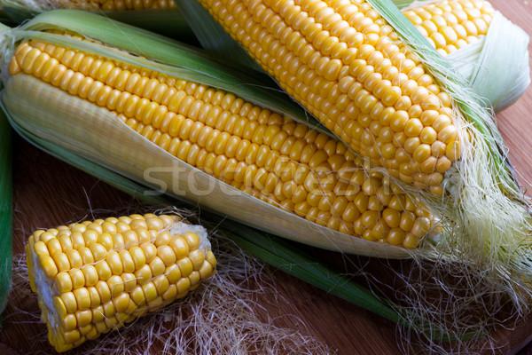 Fresh corn on cobs Stock photo © Lana_M
