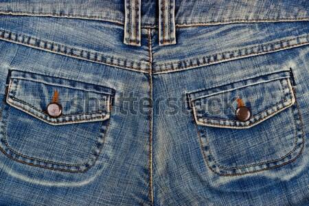 Blauw Maakt een reservekopie kant mode Stockfoto © Lana_M
