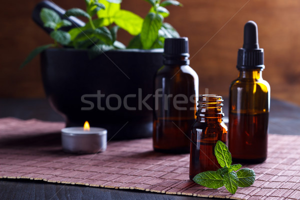 Mint essential oils Stock photo © Lana_M