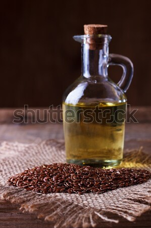 Linseed oil and flax seeds   Stock photo © Lana_M
