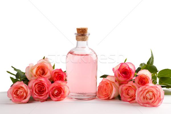 Essentiel huile de massage isolé blanche Photo stock © Lana_M