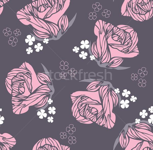 Seamless vintage rose pattern Stock photo © lapesnape