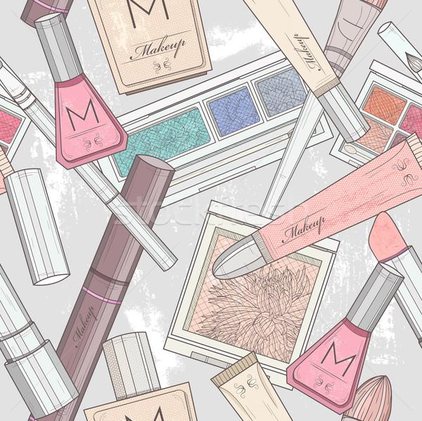 Maquillage cosmétiques modèle fleur femmes Photo stock © lapesnape