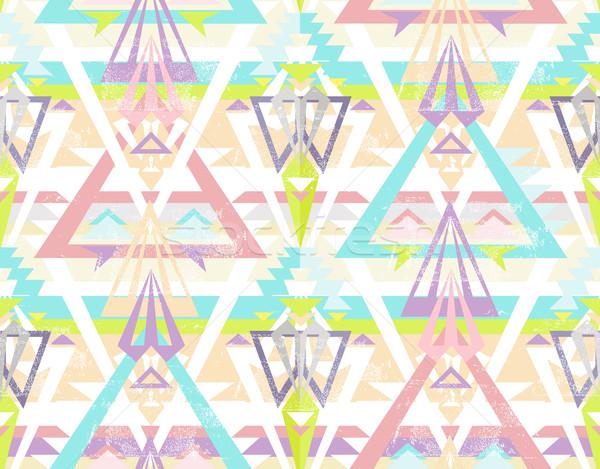 Soyut geometrik model renkli stil Stok fotoğraf © lapesnape