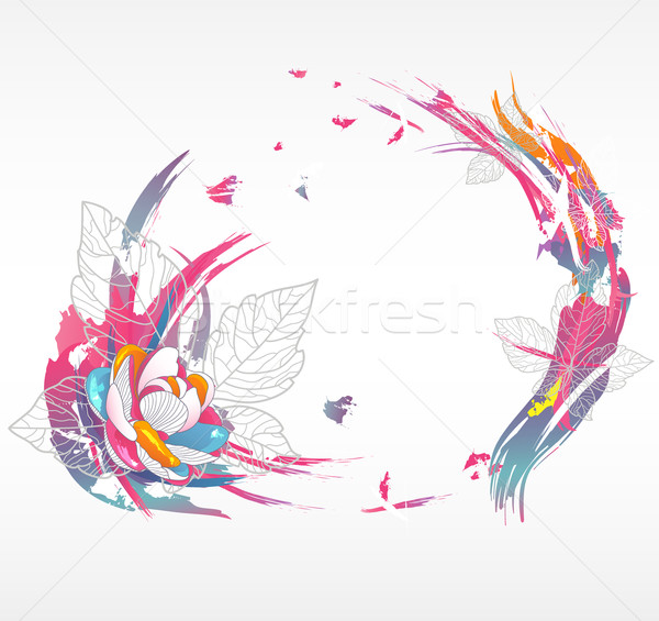 Modern abstract floral background. Background with flowers  Stock photo © lapesnape