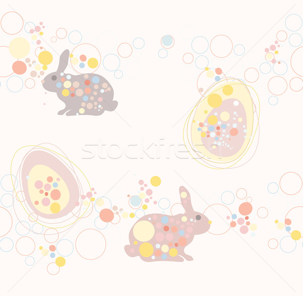 cute easter rabbit and egg pattern Stock photo © lapesnape