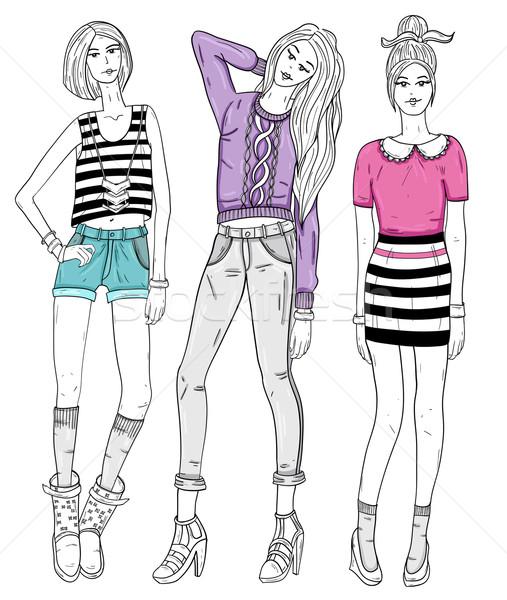 Модель девочки рисунок