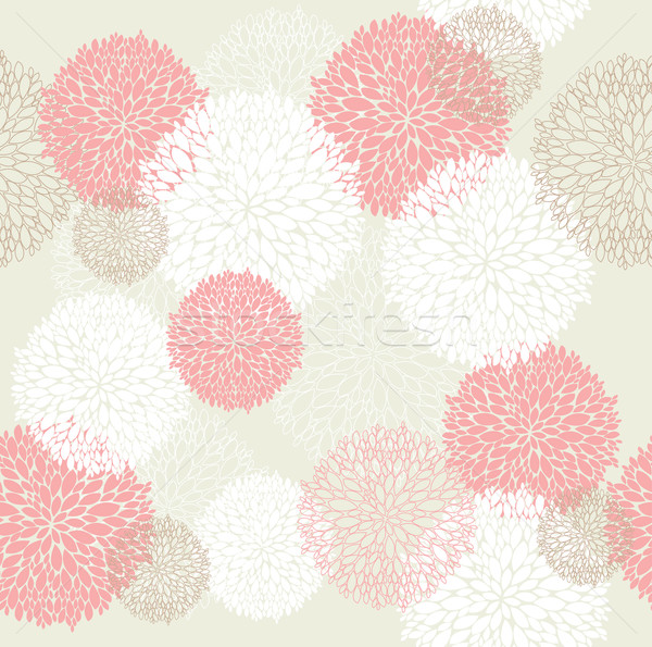 Stock photo: Seamless cute spring or summer flowers pattern