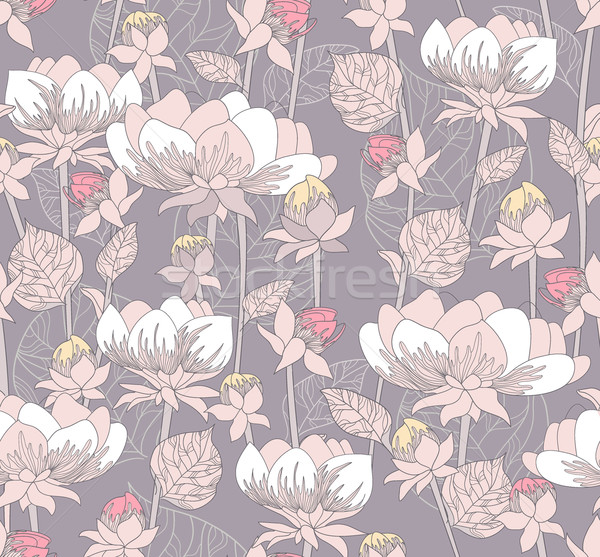 Seamless pastel floral pattern. Background with flowers Stock photo © lapesnape