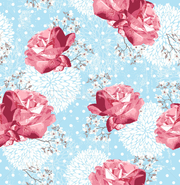 Flores floral rosas flor de cereja primavera Foto stock © lapesnape