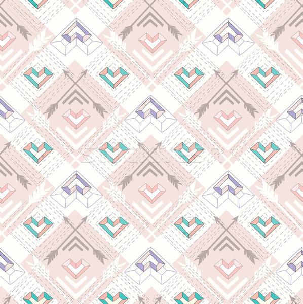 Abstrato geométrico estilo padrão corações Foto stock © lapesnape