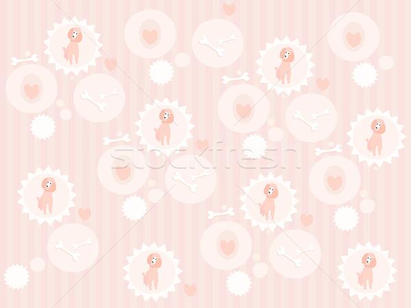 Cute poodle pattern Stock photo © lapesnape