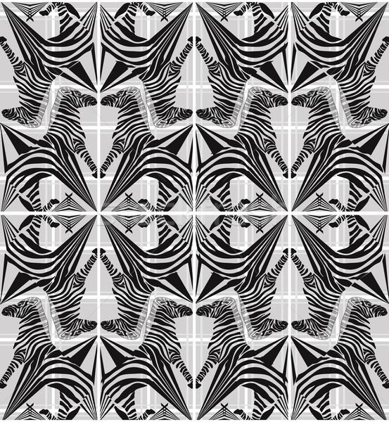 Abstract seamless zebra geometric pattern Stock photo © lapesnape