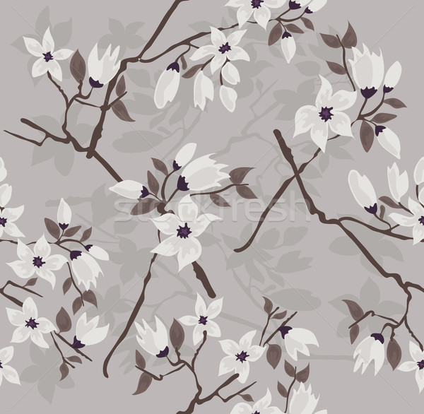 Cute and modern cherry blossom seamless pattern. Stock photo © lapesnape