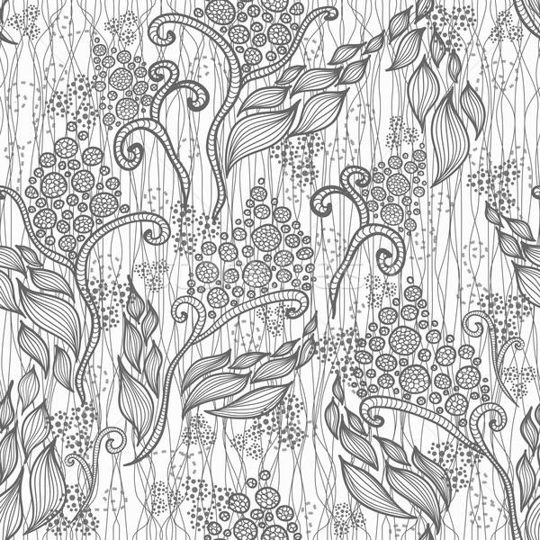 Abstract floral pattern. Seamless pattern with flowers and butte Stock photo © lapesnape