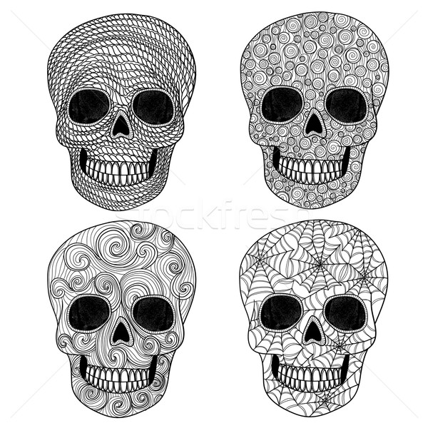 Ornament skull set. Stock photo © lapesnape
