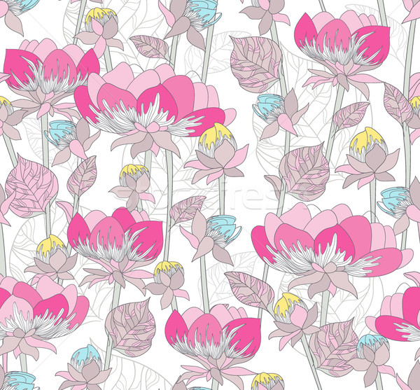 Végtelenített rózsaszín minta virágok virágmintás virág Stock fotó © lapesnape