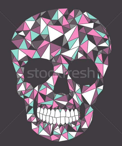 Skull with geometric pattern. Stock photo © lapesnape