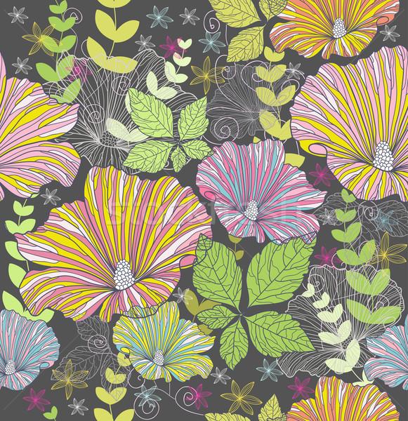 Bezszwowy kwiatowy wzór kwiaty kolorowy kwiat Zdjęcia stock © lapesnape