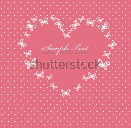 Rosa dia dos namorados cartão coração amor abstrato Foto stock © lapesnape