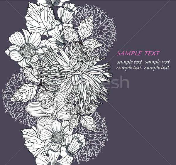 Streszczenie bezszwowy kwiatowy wzór nowoczesne Zdjęcia stock © lapesnape