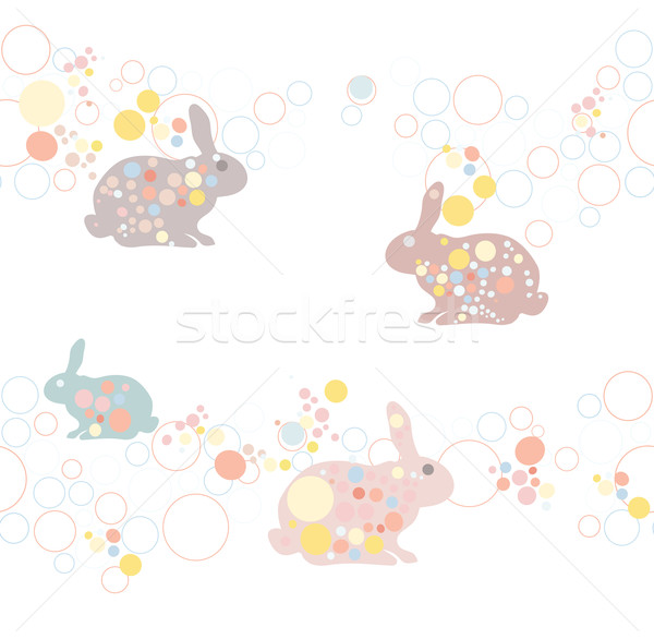 cute easter rabbit pattern. Suitable for baby or children. Stock photo © lapesnape