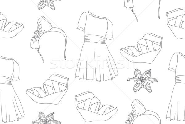 Bonitinho moda vestidos cunha Foto stock © lapesnape