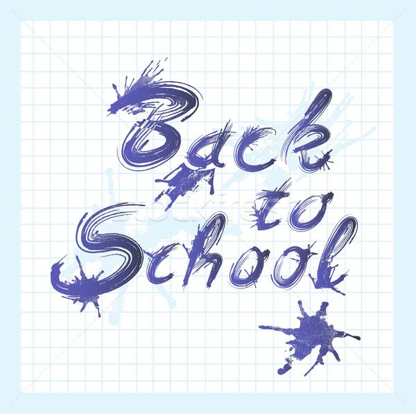 De volta à escola texto nosso crianças abstrato Foto stock © lapesnape