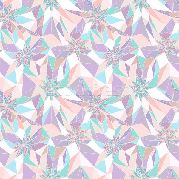Résumé motif géométrique mode fond tissu Photo stock © lapesnape