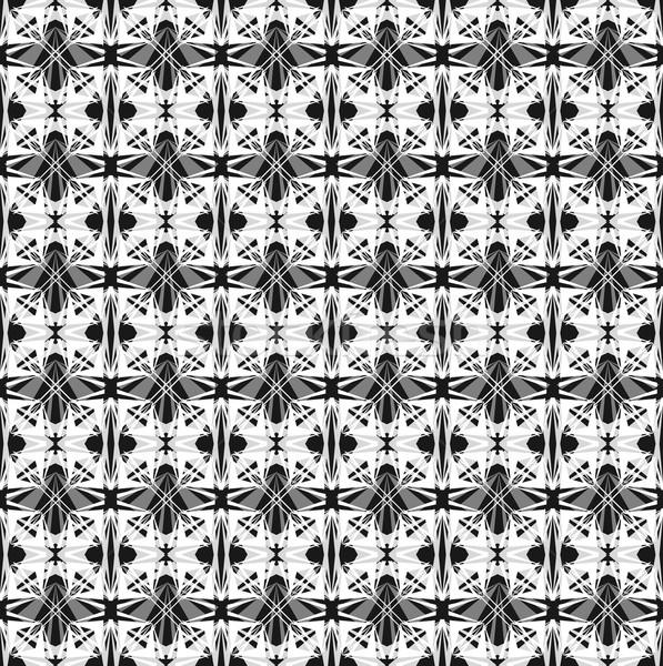 Abstrato sem costura padrão geométrico fundo imprimir retro Foto stock © lapesnape