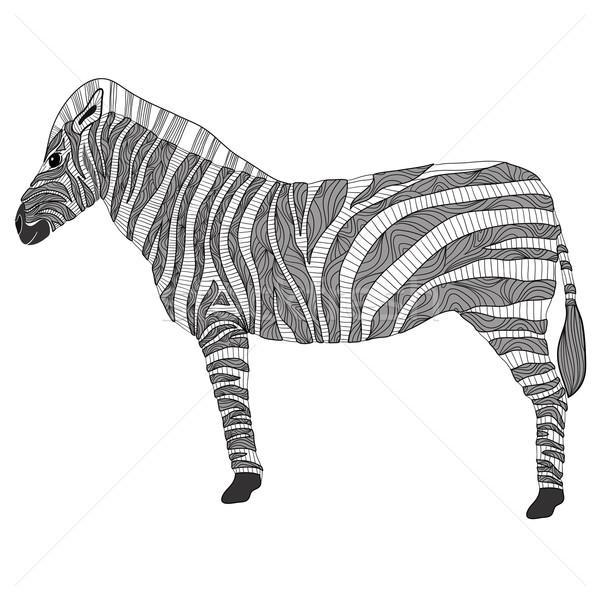 Cute pattern zebra          Stock photo © lapesnape