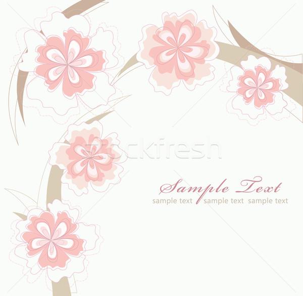 Romântico flor-de-rosa páscoa casamento projeto folha Foto stock © lapesnape