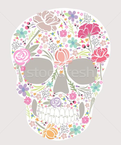 Czaszki kwiaty kwiat tekstury wzrosła streszczenie Zdjęcia stock © lapesnape