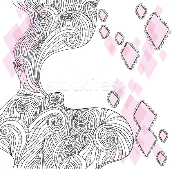 Abstract hand-drawn doodle background Stock photo © lapesnape