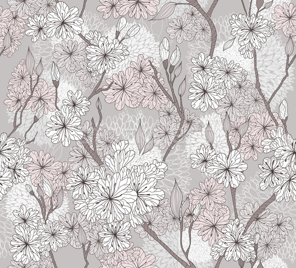Seamless cherry blossom flowers pattern. Abstract floral pattern Stock photo © lapesnape