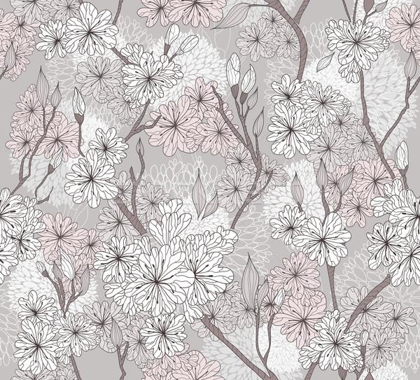 Bezszwowy Cherry Blossom kwiaty wzór streszczenie kwiatowy Zdjęcia stock © lapesnape